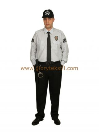 Özel Güvenlik Gömlek Açık Gri