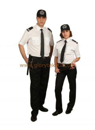 Özel Güvenlik Gömlek Beyaz