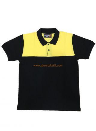 Güvenlik Tişört Siyah-Sarı