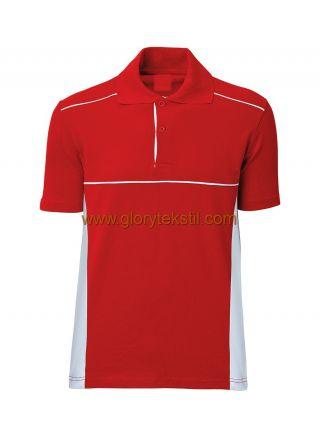 Polo Yaka İki Renk T-Shirt