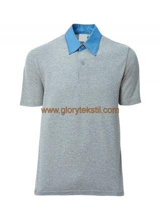 Polo Yaka Blue Jean (Kot) Yaka T-Shirt