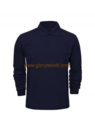 Uzun Kol Polo Yaka Pike T-Shirt