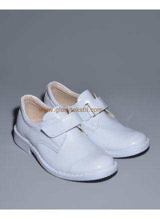 Sünnet Ayakkabısı Beyaz Rugan