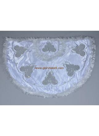 Sünnet Pelerini Beyaz-Gümüş Çınar Model