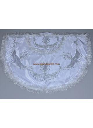 Sünnet Pelerini Beyaz-Gümüş Prens Model