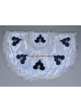 Sünnet Pelerini Beyaz-Lacivert Çınar Model