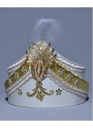 Sünnet Şapkası Krem-Lame