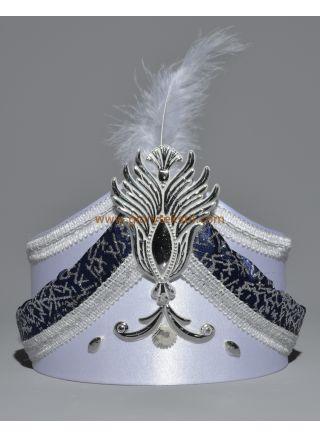 Sünnet Şapkası Beyaz-Lacivert
