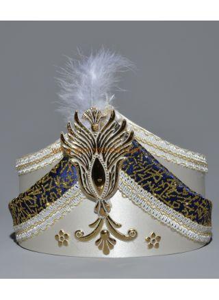 Sünnet Şapkası Krem-Lacivert
