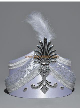 Sünnet Şapkası Beyaz-Gümüş