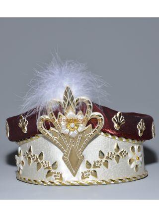Sünnet Şapkası Krem-Bordo
