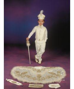 Sünnet Kıyafeti Pargalı Model Krem-Lame
