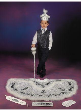 Sünnet Kıyafeti Yiğit Model Beyaz-Laci