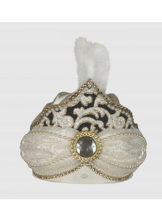 Sünnet Şapkası Yonca Krem-Lacivert