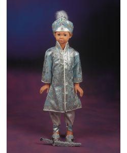 Şehzade Sünnet Kıyafeti Barbaros Model Mavi-Gümüş