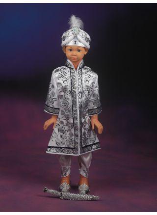 Şehzade Sünnet Kıyafeti Ertuğrul Model Beyaz-Lacivert