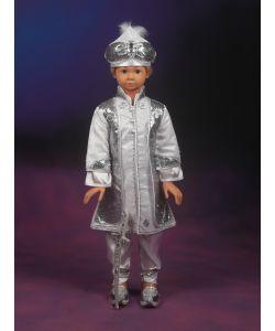 Şehzade Sünnet Kıyafeti Hünkar Model Beyaz-Gümüş