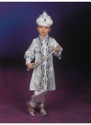 Şehzade Sünnet Kıyafeti Saray Model Beyaz-Lacivert