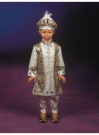Şehzade Sünnet Kıyafeti Türkiye Model Krem-Bordo