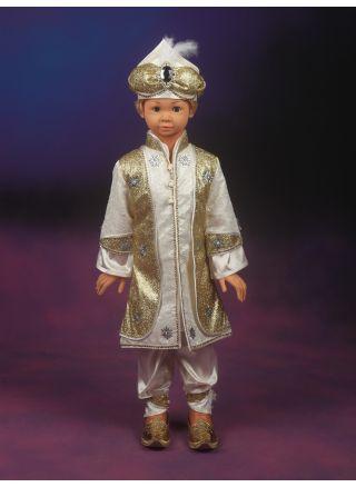 Şehzade Sünnet Kıyafeti Yeniçeri Model Krem-Lame