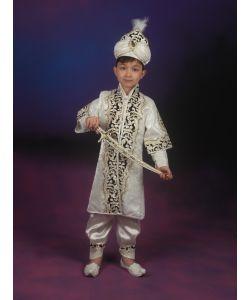 Şehzade Sünnet Kıyafeti Yonca Model Krem-Lacivert