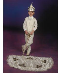 Sünnet Kıyafeti Pelerinli Takım Baskılı Model Krem-Lacivert