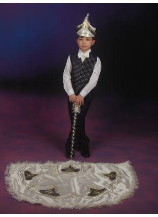 Sünnet Kıyafeti Pelerinli Takım İstanbul Krem-Lacivert