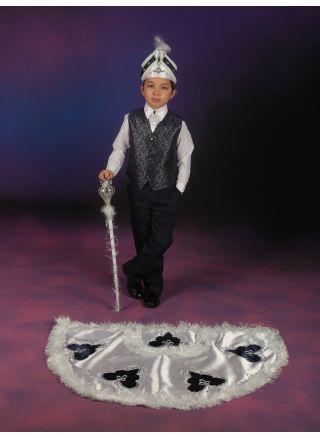 Sünnet Kıyafeti Pelerinli Takım Çınar Model Beyaz-Lacivert