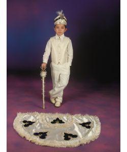 Sünnet Kıyafeti Pelerinli Takım Çınar Model Krem-Lacivert