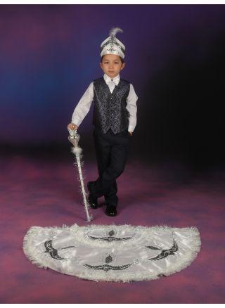 Pelerinli Takım Prens Model Beyaz-Lacivert