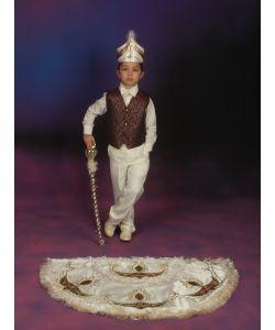 Pelerinli Takım Prens Model Krem-Bordo
