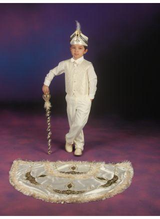 Pelerinli Takım Prens Model Krem-Lacivert